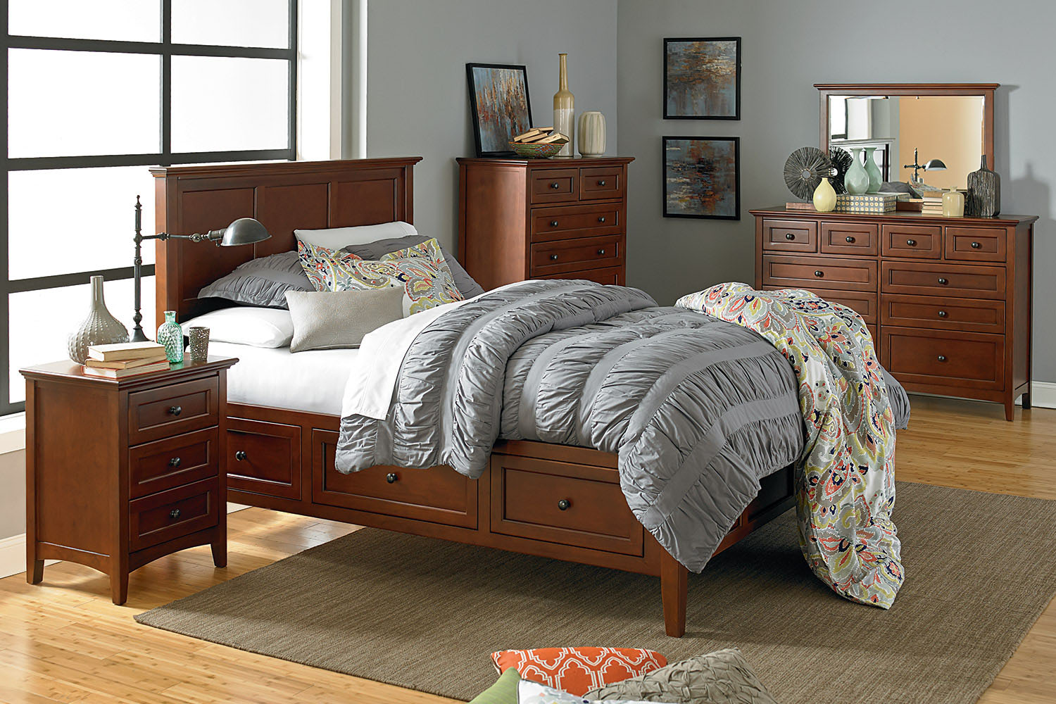 Mckenzie collection bedroom furniture headboards - Unfinished solid wood bedroom furniture ...