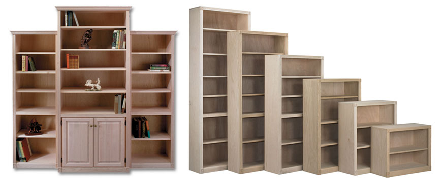 Real Wood Maple Oak Bookcases Shelving Office Furniture